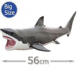 Requin Blanc Figurine Grand Taille en PVC Souple