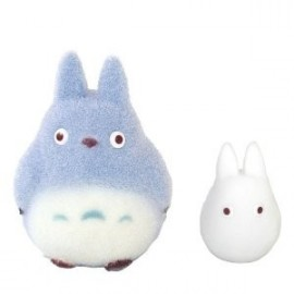 Mon Voisin Totoro Totoro Bleu & Blanc Collection Doll Figurines 9 et 5cm